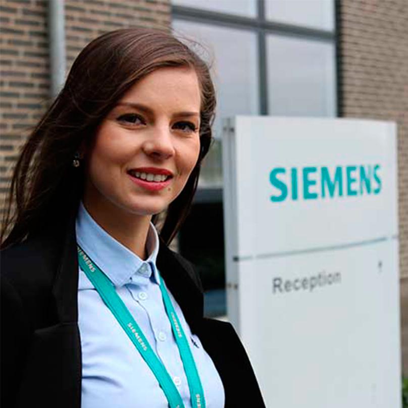 Alexandra from Romania landed a dream job at Simens