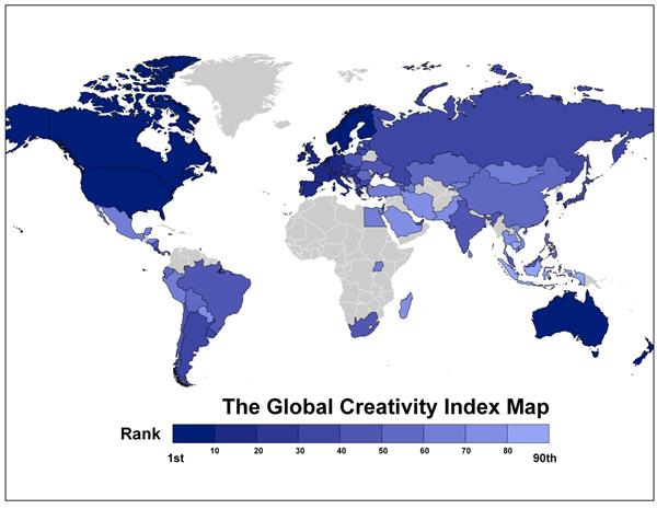 Denmark 4th in Global Creativity Index