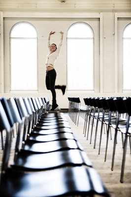 STDK. Girl Dancing on Chairs